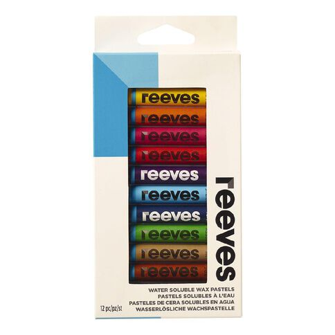 Reeves Water Soluble Wax Pastels 12 Pack