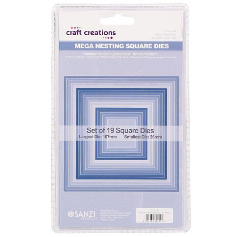 Craft Creations Nesting Dies Square 19 Piece