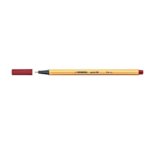 Stabilo Point 88 Fineliner 0.4mm Crimson