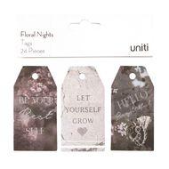 Uniti Floral Nights Tags 24pc