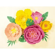Rosie's Studio Tropical Paper Flower Kit 11 Piece
