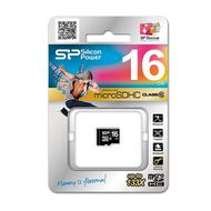 Silicon Power 16GB Class 10 MicroSD Card Black