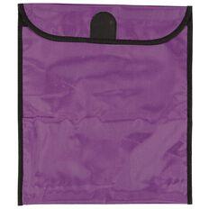 GBP Stationery Book Bag Zipper Pocket Purple 370mm x 335mm