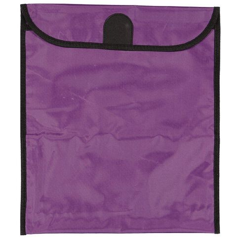 GBP Stationery Book Bag Zipper Pocket 370mm x 335mm Purple