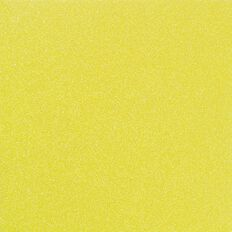 American Crafts Cardstock Glitter Medium 12 x 12 Neon Yellow