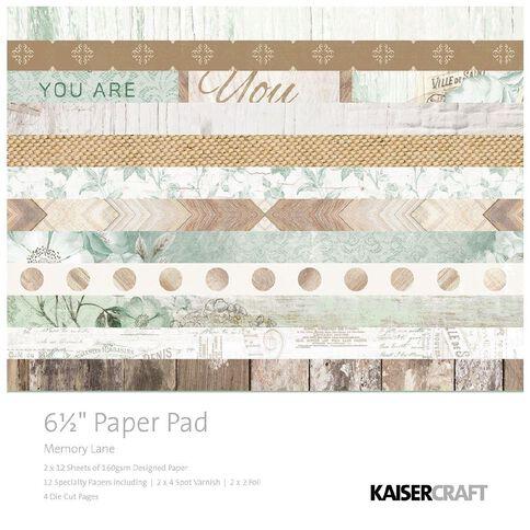 Kaisercraft Memory Lane Paper Pad 6.5 inch