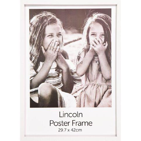 Uniti Box Poster Frame White A3