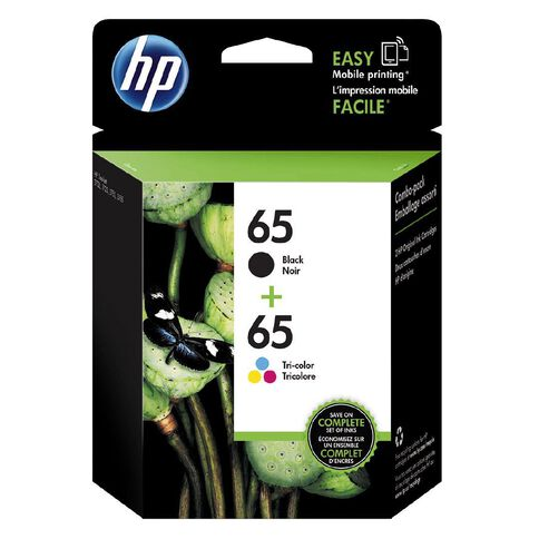 HP Ink 65 Black/Colour 2 Pack (220 Pages)