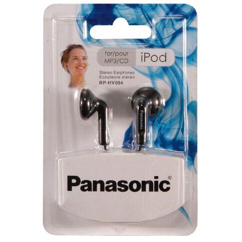 Panasonic Bud Style Stereo Earphones Rp-Hv094Gu-K Black