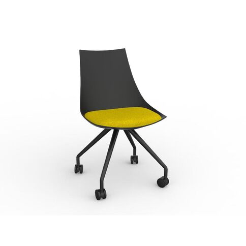 Luna Black Bumblebee Chair Yellow
