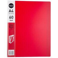 Impact Clear Book 60 Leaf Red A4