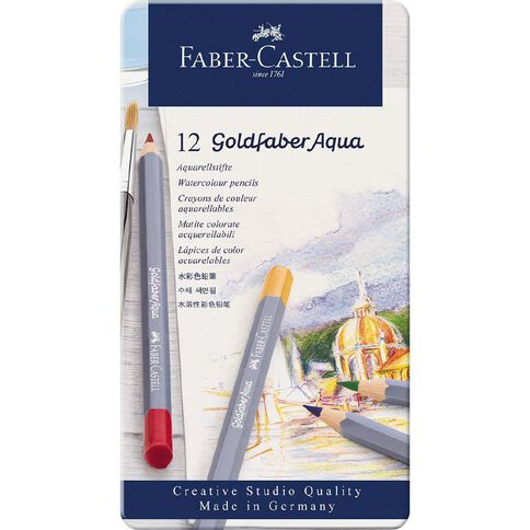 Faber-Castell Goldfaber Aquarelle Tin 12 Pack