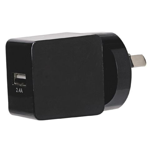 Tech.Inc USB Wall Charger 2.4A Black