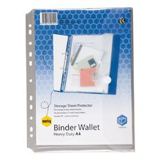 Marbig Wallet Binder Polyprop Hook And Loop Clear A4