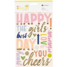Rosie's Studio Mimosa Sunday Foil Foam Stickers