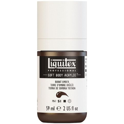 Liquitex Soft Body Acrylic 59ml Burnt Umber S1