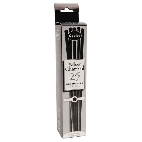 Coates Wilow Charcoal Medium 25 Pack