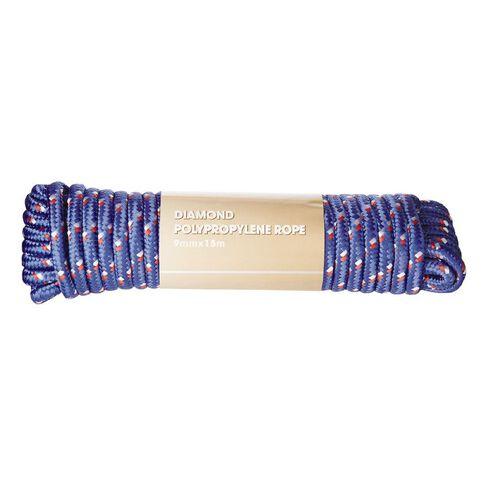 Diamond Braided Polypropylene Rope 9mm x 15m