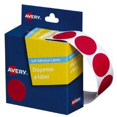 Avery Red Dispenser Dot Stickers 24mm diameter 500 Labels