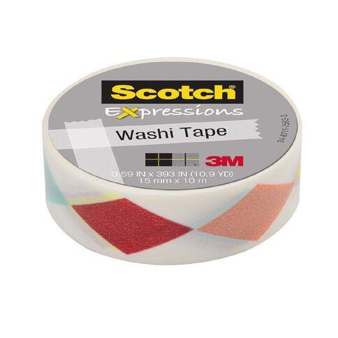 Scotch Washi Craft Tape 15mm x 10m Diamonds