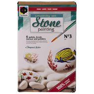 Stone Painting Tropical Fish