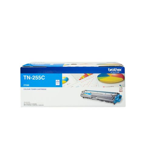Brother Toner TN255 Hi-Capacity Cyan (2200 Pages)