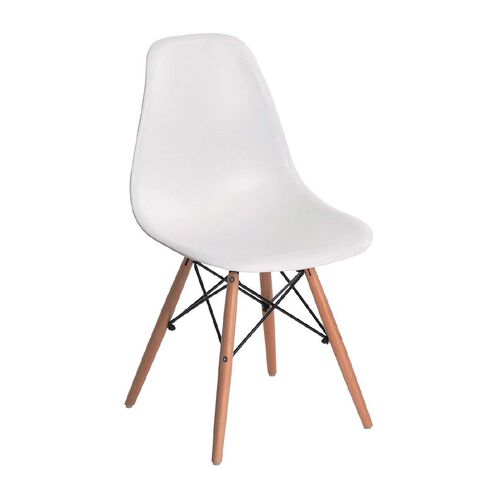 Living & Co Replica Eames Dining Chair White