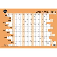 Impact Wall Planner 2019 Laminated 420mm x 600mm A2
