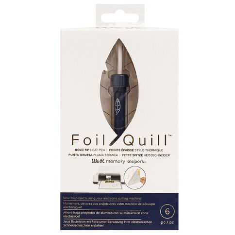 We R Memory Keepers Foil Quill Pens Bold Tip Pen 6 Piece