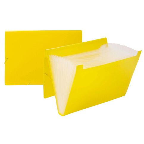 Impact Foolscap Expanding File PP 12 Pocket Yellow