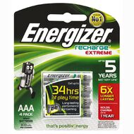 Energizer Rechargeable Battery NiMH AAA 4 Pack