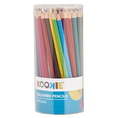 Kookie Coloured Pencils Multi-Coloured 100 Pack