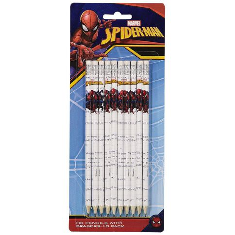 Spider-Man HB Pencil With Eraser 10 Pack