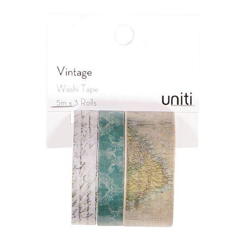 Uniti Vintage Washi Tape 3 Pack
