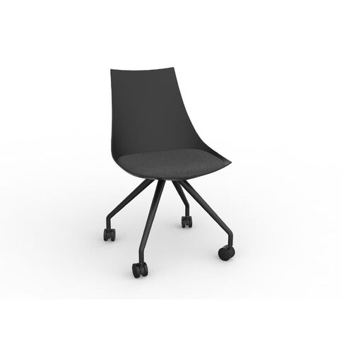 Luna Black Charcoal Grey Chair Charcoal