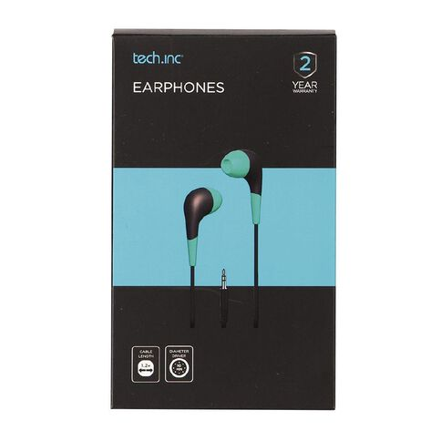 Tech.Inc In-Ear Earbuds Teal