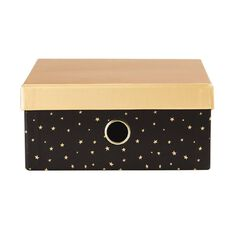 Uniti Fun & Funky Q4 Stars Storage Box Black A4