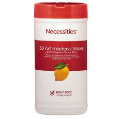 Necessities Brand Anti Bacterial Cleaning Wipes Can 30s