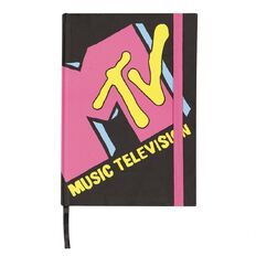 MTV Hardcover Notebook Black & Pink A5
