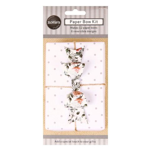 Rosie's Studio Paper Bow Kit 12 Pack Neutral