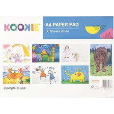 Kookie Paper Pad 60 Sheet White A4