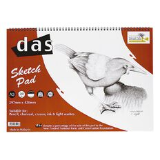 DAS Sketch Pad Spiral Saddleback 110gsm A3