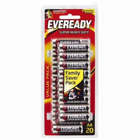 Eveready Super Heavy Duty Battery AA Value 20 Pack