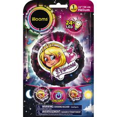 Illooms Light Up Foil Balloon Princess 56cm