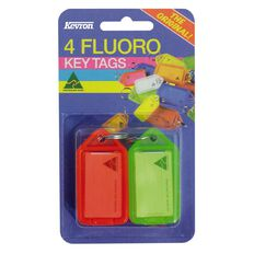 Kevron Key Tags 4 Pack Fluoro