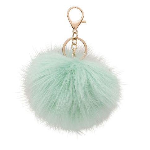 Kookie Novelty-P Fluffy Keyring Green