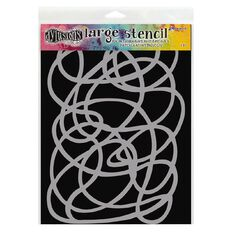 Ranger Dylusions Stencil Squiggle Large