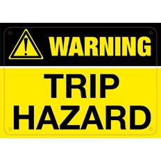 Impact Warning Trip Hazard Sign Small 240mm x 340mm