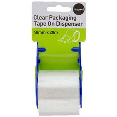 Impact Packaging Tape On Dispenser 48mm x 20m Clear