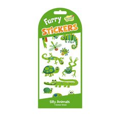 Peaceable Kingdom Stickers Furry Green Animals